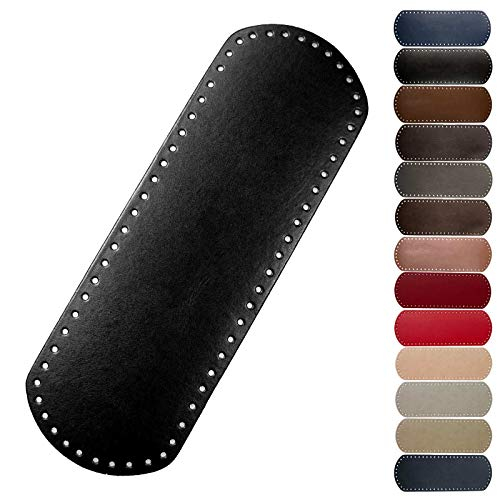 1 Taschenboden Kunstleder zur Taschenherstellung Boden Tasche Farb-/Größenwahl, Größe:12x36cm, Farbe:schwarz