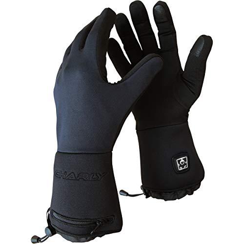 CHARLY Best of Air Fire Basic, Herren/Damen beheizbare Unterzieh-Handschuhe, Li-Ion-Akkus, Größe L