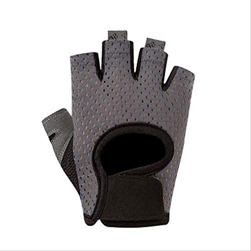 Guantes de verano para hombre y mujer, delgados y transpirables antideslizantes de medio dedo, adecuados para ejercicios de gimnasio y entrenamiento de fitness