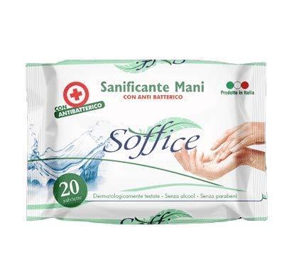 Salviette sanificante mani con antibatterico