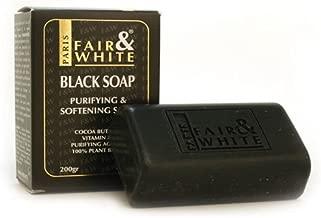Fair & White Original Anti-bacterial Black Soap - Purifying & Softening, 200g / 7oz