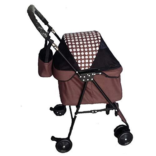 MZP hondenwagen hondenmand pet stroller voor honden en katten, inklapbaar, kan als buggy transporttas huisdierhuis of autostoel, maximaal gewicht 15 kg C