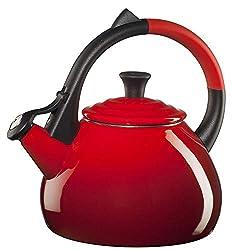 cheap Steel Teapot Oolong Tea Le Creuset Enamel, 1.6 qt, Cherry