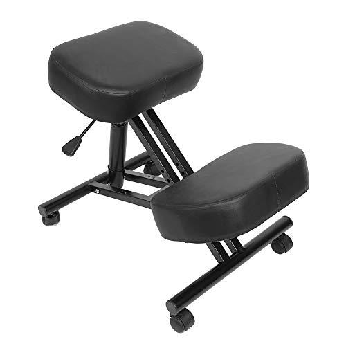 Cocoarm Ergonomischer Kniestuhl Pneumatischer Kniehocker Sitzhocker Bürohocker mit Rollen Verstellbarer Kniekorb zur Korrektur der Körperhaltung für Zuhause und Büro