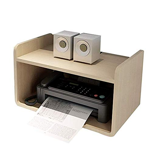 KGDC Soporte para Impresora Sólido Bastidor de Madera Impresora Estante de Almacenamiento Dispositivo de Archivo Rack Estante de estantería Acabado Rack de hogar y Oficina Misceláneas Print Racks