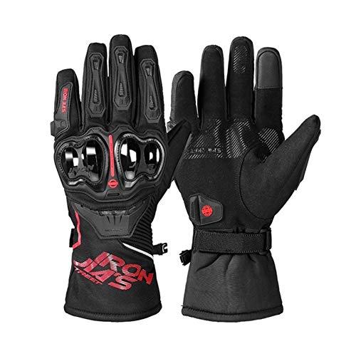 Mejor Guantes de motocicleta guantes de motocicleta hombres impermeable impermeable a prueba de viento invierno moto guantes táctil pantalla gant moto guantes motocicleta montando guantes protecciones