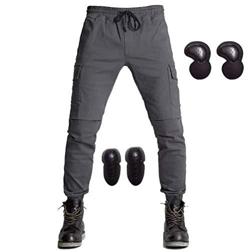 Mannen Vrouwen Motorfiets Denim Jeans Met Update Armor Knie Hip Pads Cargo Overalls Motocross Racing Beam Broek S-XXXL