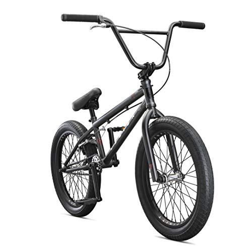 Mongoose Legion L100 Freestyle BMX Bike for Advanced-Level Riders, Featuring 4130 Chromoly Frame and Double Walled Rims with 20-Inch Wheels, Black