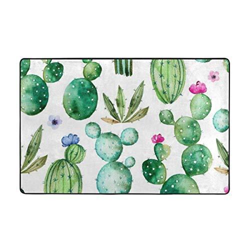 AoLismini Badezimmer Teppich Duschmatte Maschine Badematte, grüne mexikanische Texas Kaktus Pflanzen ikes Cartoon wie Natur Thema
