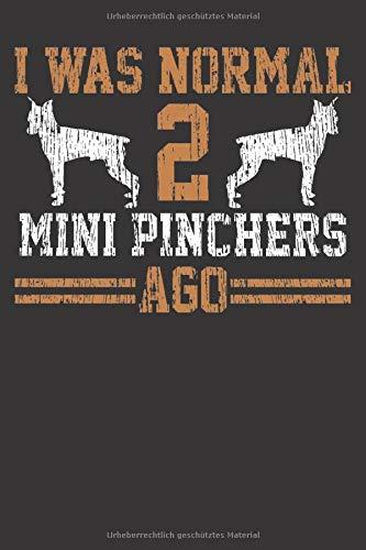 Mini Pincher Notizbuch: Mini Pincher Hund Züchter Herrchen Frauchen Vintage 6x9 Notizbuch 120 Seiten liniert
