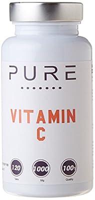 Bodybuilding Warehouse 1000mg Pure Vitamin C 120 Tablets