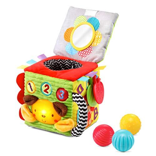 VTech – Cubo interattivo per il risveglio sensoriale, giocattolo per bambini con diversi materiali – Versione FR