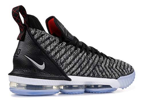 Nike Mens Lebron 16 Black/White/Grey Mesh Basketball Shoes 11 M US
