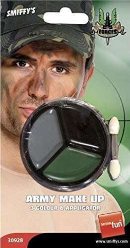 Fancy Me Pour Hommes Femmes Camouflage Armée Guerre Militaire Maquillage Peinture de Visage Kit Accessoire Déguisement