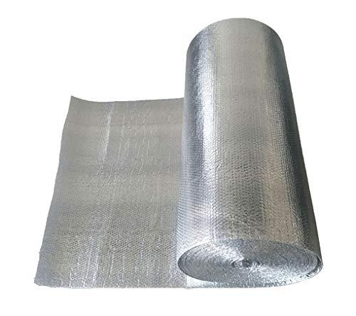 Ahorre Energía Calor Reflector Reflectante Lámina De Burbujas Calentar Una Habitación Lámina De Aluminio Capas Reflectantes Puertas De Garaje Aislamiento Térmico Aluminio Aluminio Doble(Size:1x10m)