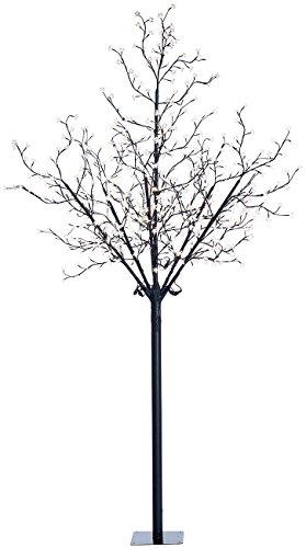 Lunartec Lichterbaum: LED-Deko-Baum mit 600 beleuchteten Blüten, 250 cm, für innen & außen (LED Lichterbaum außen)