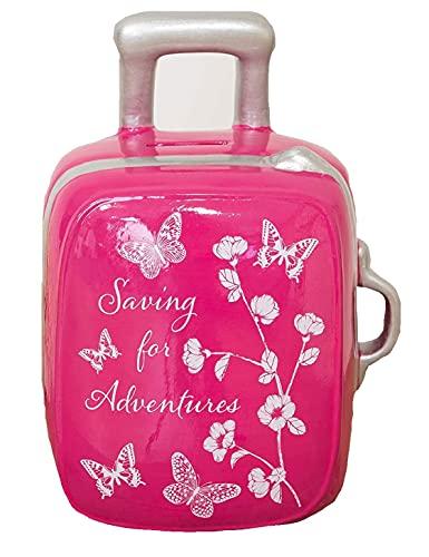 The Gift Experience Sophia - Hucha con diseño de mariposa, color rosa