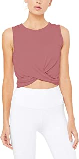Bestisun Crop Top Workout Shirts Muscle Tank Cropped Athletic Workout Top for Women Gym