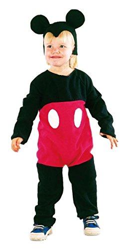 P'TIT CLOWN 82490 Costume Souris, Enfant, Noir/Rouge, 80/92 cm (1-2 ans)