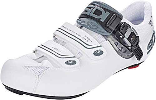 Sidi Genius 7 Sombra de Zapatos de Ciclismo, Color Blanco, Talla 46