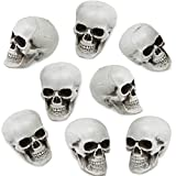 Reliable material: these Halloween skulls are made of polystyrene, which is lightweight, durable and reusable, nice decorate choice for Halloween and daily life Realistic design: the Halloween skulls are designed with a realistic appearance, and you ...
