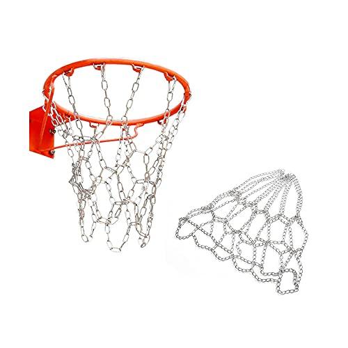 Red de Baloncesto Cadenas, Red de Aro de Baloncesto, Red de Baloncesto Metal, Red de Baloncesto Exterior, Red de Baloncesto de Repuesto, para Cancha de Baloncesto Cubierta