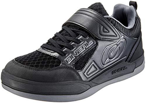 O'NEAL | Fahrrad-Schuh | Mountainbike MTB DH FR Downhill Freeride | Super-Grip-Außensohle, Extra breiter Klettverschluss, Mesh-Belüftung | Sender Flat Shoe | Erwachsene | Schwarz | Größe 42