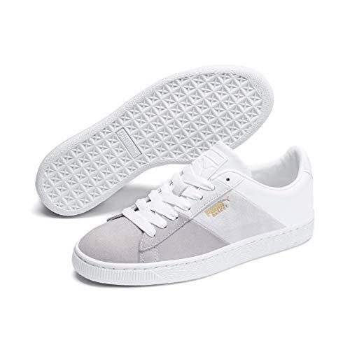 PUMA Damen Basket Remix Wn's Sneaker, Weiß (Puma White-Puma Team Gold), 40.5 EU