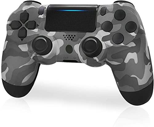 JORREP Controller per PS4, Wireless Controller per Playstation 4/Pro/3/Slim/ PC, Wireless Gamepad Joystick con Shock a Doppia Vibrazione a Sei Sssi e Jack Audio Mini LED(gray)