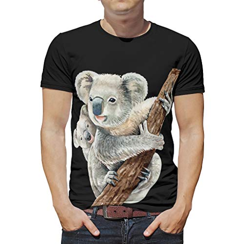 Koala Animal Ultra Soft Short Sleeve T-shirt voor boyfriend Girlfriend of familie