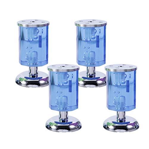 4 piezas Patas de muebles Patas de mesa ajustables Patas de sofá Patas de muebles Pies de muebles de cristal azul Pies transparentes de repuesto Elevadores de muebles Patas de sofá Patas de escritori