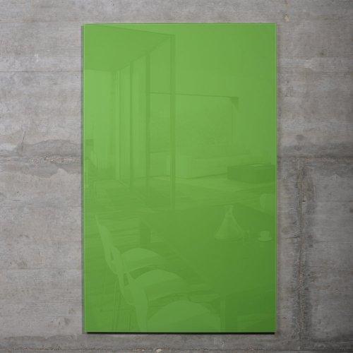 raum-blick Glas Magnettafel MAX inkl. 5 Magnete, Magnetspiegel/Glasmagnettafel/Magnetboard/Magnetwand (grün, 50 x 30 cm)