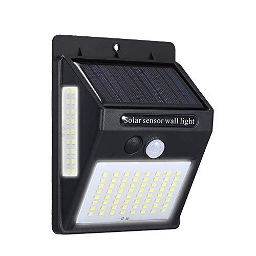 Ltteny Led-lamp op zonne-energie, 3 pagina's, DC 5,5 V, 20 W, 100 PIR bewegingsmelder, menselijke infrarood-inductor, detector, lichtgevoelige besturing, IP65 met oplaadbare batterij