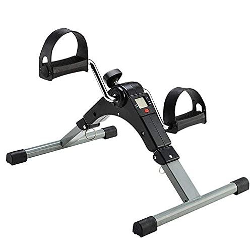 N&I Pedal plegable plegable con pantalla interior portátil Mini Exercise Bike Resistance Adjustable