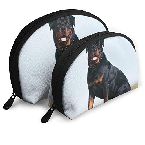XCNGG Bolsa de almacenamiento Cute Frendly Pet Dog portátil de viaje maquillaje bolso impermeable organizador de artículos de tocador bolsas de almacenamiento