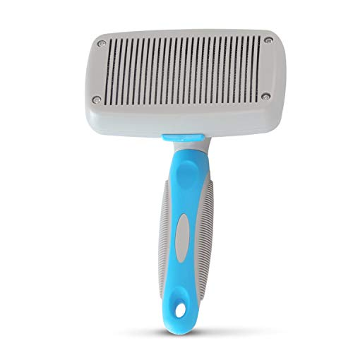 Dog grooming,Pet Grooming Brush,Cat Comb Deshedding Tool Professional Self Cleaning Pet Brush Reduces Dogs and Cats Shedding Hair by More Than 95%, Massage Slicker Grooming,Brush for Short & Long Hair