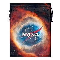 Kualday Nasa アメリカ航空宇宙局1 トラベル収納バッグド多機能スポーツバッグ ジムバッグ 巾着 バッグ シューズ ケース 乾湿分離ポータブルい 巾着ポケット 収納袋