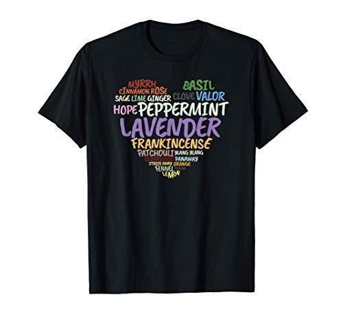 Aceite esencial Corazón Lavanda Menta Pachulí Camiseta