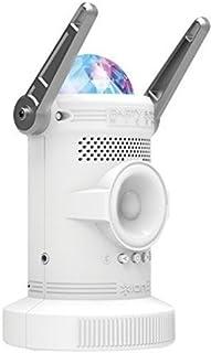 iON Party Bot Micro - Altavoces (De 2 vías, Piso, Mesa/estante, 100 W, Color blanco, Inalámbrico, Bluetooth)