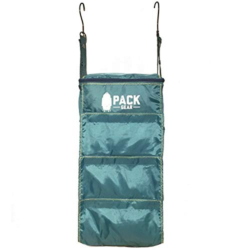 Pack Gear Portable Luggage Organizer - Make Packing your Suitcase or Carry-On Easy - Our Packable Hanging Shelves Feature YKK Zippers & Velcro Closures