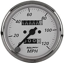 Auto Meter American Platinum Speedometers Speedometer, American Platinum, 0-120 mph, 3 1/ 8 in., Analog, Mechanical, Each