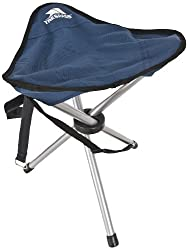 Trespass Branded Tripod Camping Chair Size: 41 x 31cm Packaged in a Trespass Carry bag 3 x 19x0.8 Steel Tube Legs Lightweight Black Epoxy Coating