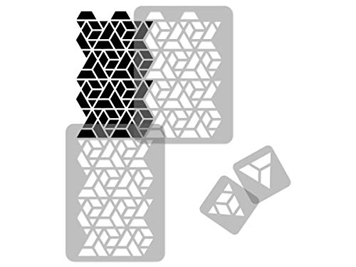 G Riutilizzabile stencil da parete in plastica // 65 x 95 cm // Triangolare // Seamless repetitive Allover modello modello