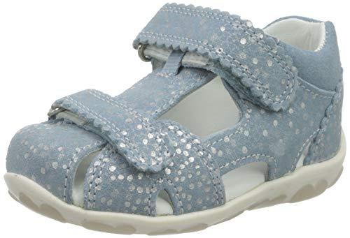 Superfit Baby-Mädchen Fanni Sandalen, Blau (Hellblau 85), 26 EU