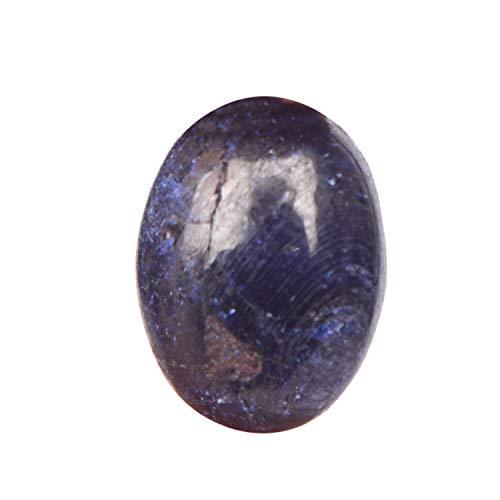 Real Gems Zafiro Azul Natural Certificado 6.50 CT de Piedras Preciosas Sueltas, Forma de cabujón Oval Zafiro de tamaño pequeño para Hacer Anillos