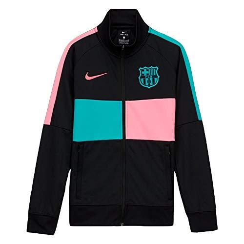 NIKE FC Barcelona Temporada 2020/21-FCB Y NK I96 Anthem TRK JKT CLCK8579-010 Chaqueta, Niño, Black/Pink Beam/New Green/Pink Beam no spon-3rd, M