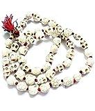 PLANET 007 Natural Goddess Kali Mund Mala Necklace Skeleton Necklace Maha Kali Skull Mala 108 + 1 Beads