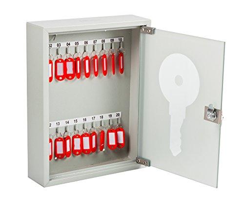 OfficeForce® Schlüsselkasten mit Glastür, 20 Schlüssel (20084)