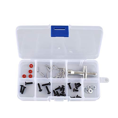 healthwen 10 Compartimentos Ranuras Celdas Caja de Herramientas portátil Piezas electrónicas Perlas de Tornillo Anillo Joyas Caja de Almacenamiento de plástico Soporte de contenedor Transparente