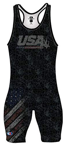 Cliff Keen | S79US19 | The Patriot USA Wrestling Sublimated Singlet | Elite Wrestlers Choice! (Small)